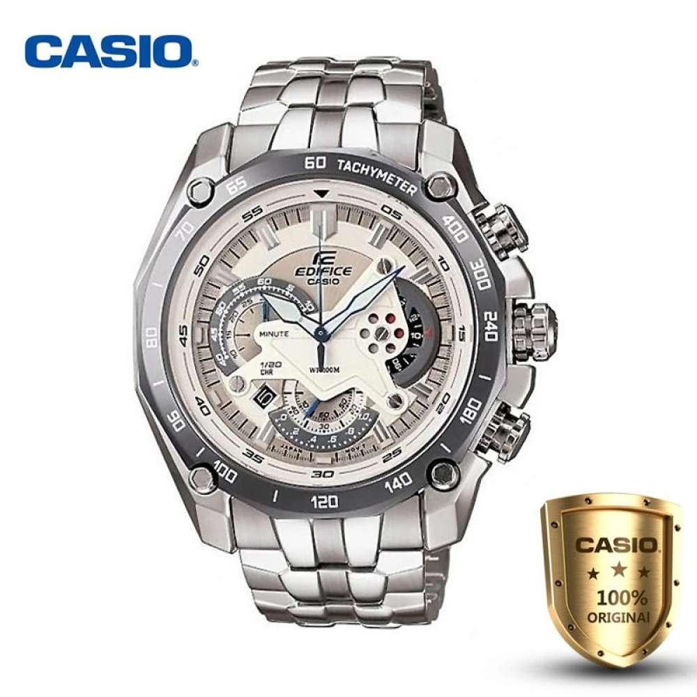 จัดส่งฟรีCasio Edifice รุ่น EF-550D-7AV สินค้าขายดี นาฬิกาข้อมือผู้ชาย สายสแตนเลส (ของแท้100% ประกันCMG)