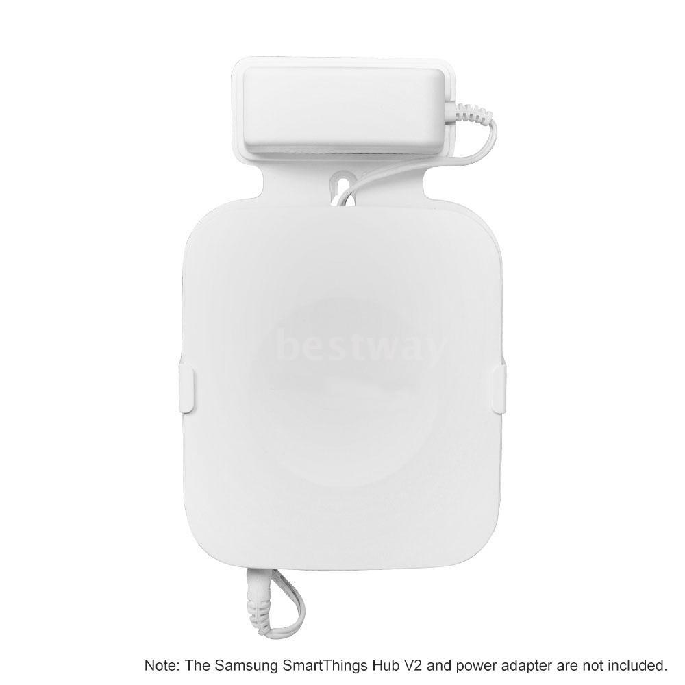 1PCS Wall Mount for Samsung SmartThings Hub V2,White