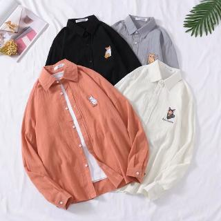 Review Real shot new fashion cat pattern casual long sleeve shirt