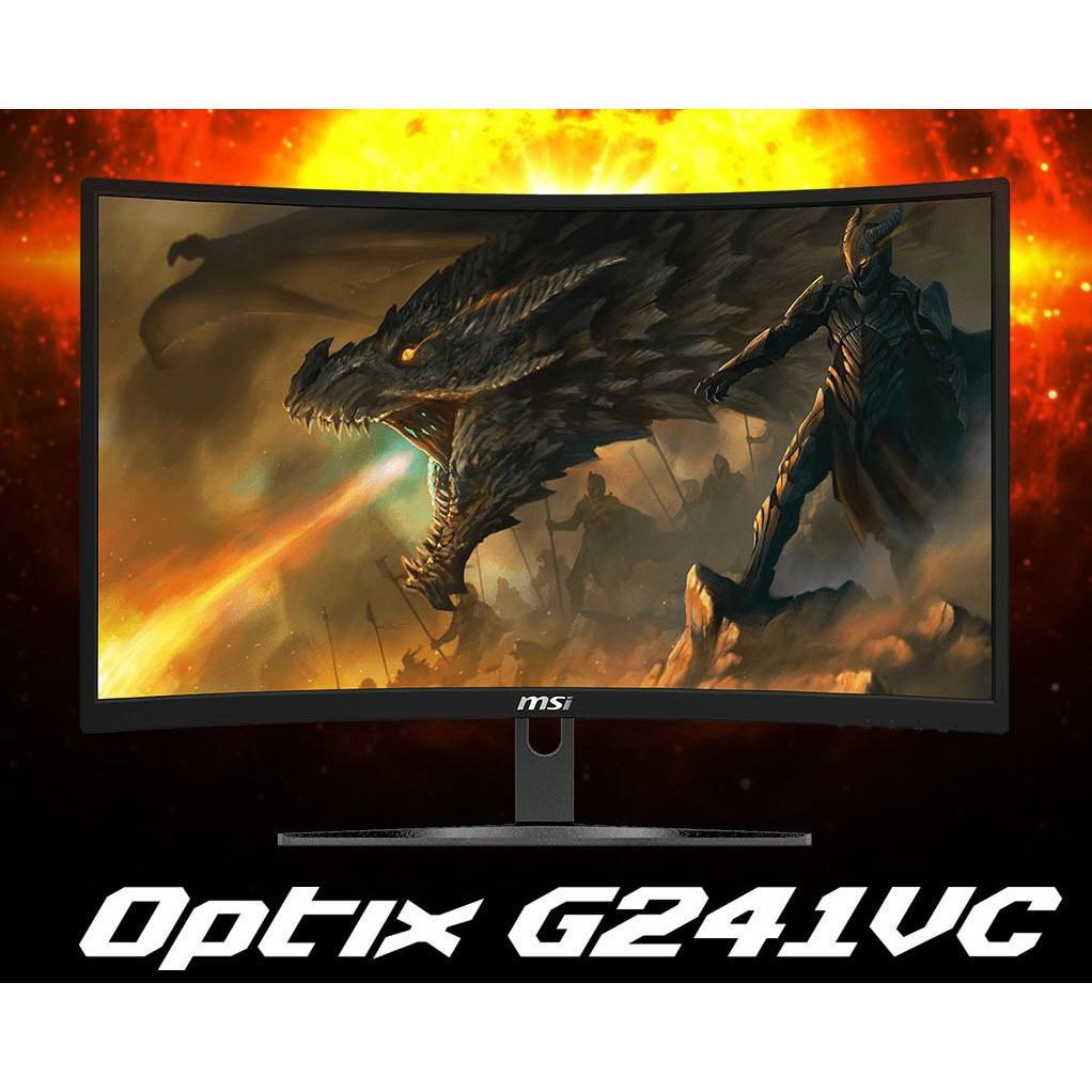 """✽MSI Curved Gaming Monitor รุ่น Optix G241VC 23.6"""" (FHD, VA Panel, VGA, HDMI) 75Hz ประกันศูนย์ 3 ปี"""