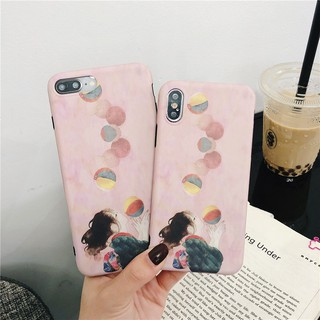 Review เคสไอโฟน iPhone X XS Max XR iPhone 11 Pro Max 7 8 Plus 6 6S Plus Cartoon Girl บัลลูน Balloon Soft Case