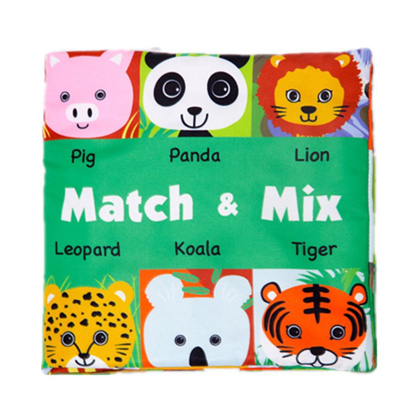 2018Face Matching Baby Toy Cloth Development Books Learning & Education Cloth Books2021