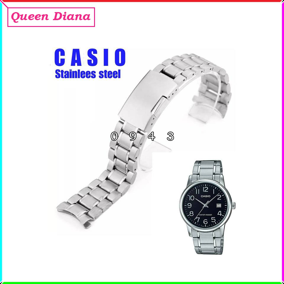 Casio Mtv-v002 สายนาฬิกาข้อมือสแตนเลส