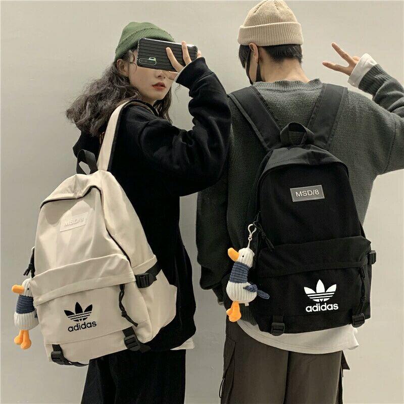 【Freebies】ADIDAS Couple Backpack Cute Backpack Men Bag Women Backpack Fashion Leisure Bag Traveling Shoulder Bag
