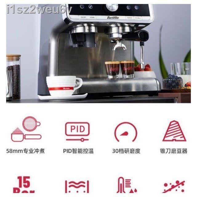 เครื่องชงกาแฟ✇☸เครื่องทำฟองนมแผนที่ Barsetto/Yumum เครื่องทำฟองนมในเชิงพาณิชย์ เครื่องบดกาแฟกึ่งอัตโนมัติเชิงพาณิชย์ เคร