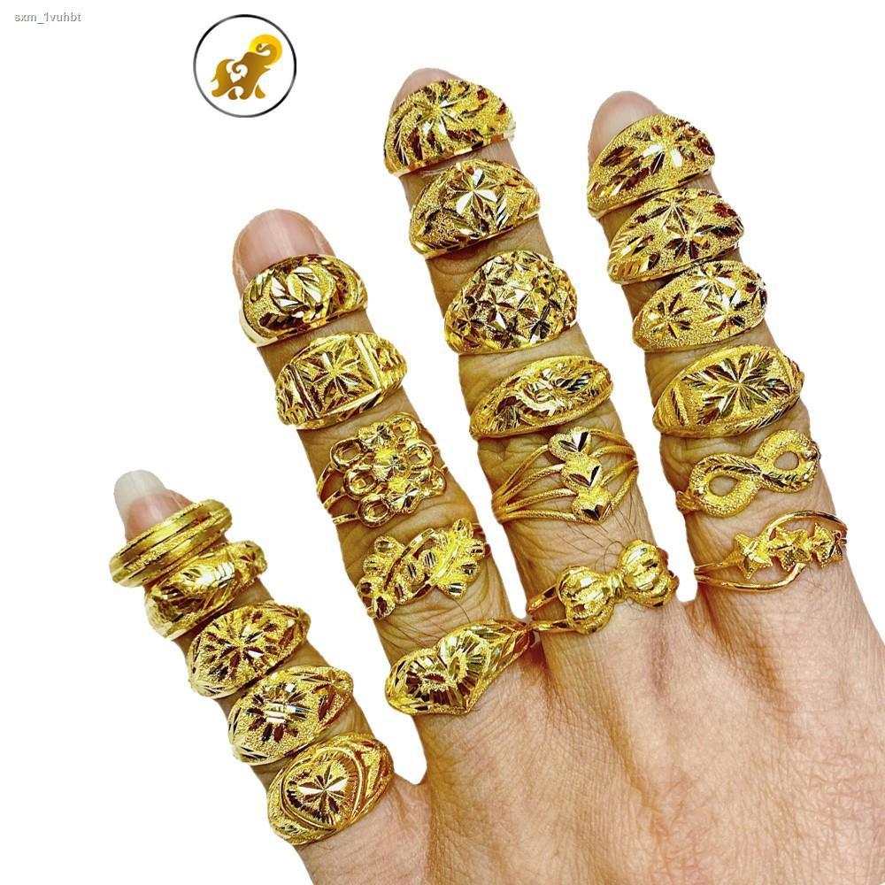 ราคาต่ำสุด✹✌☃Flash Sale แหวนทองครึ่งสลึง ลายแฟนซี หนัก 1.9 กรัม ทองคำแท้ 96.5% มีใบรับประกัน