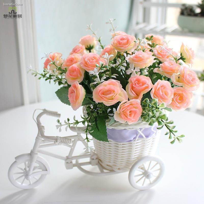 การจำลองพันธุ์ไม้อวบน้ำ✹✈กระเช้าดอกไม้หวายจำลอง ของตกแต่งบ้านติดแอร์ ดอกไม้ปลอม โต๊ะกาแฟห้องนั่งเล่น กระถางต้นไม้ บอนไซจ