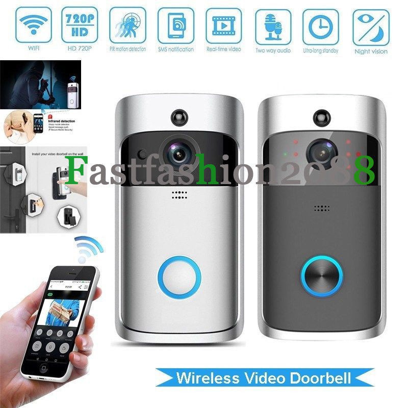 ☛Home Security Bell Smart Wireless WiFi Doorbell IR Video Camera Intercom  Record