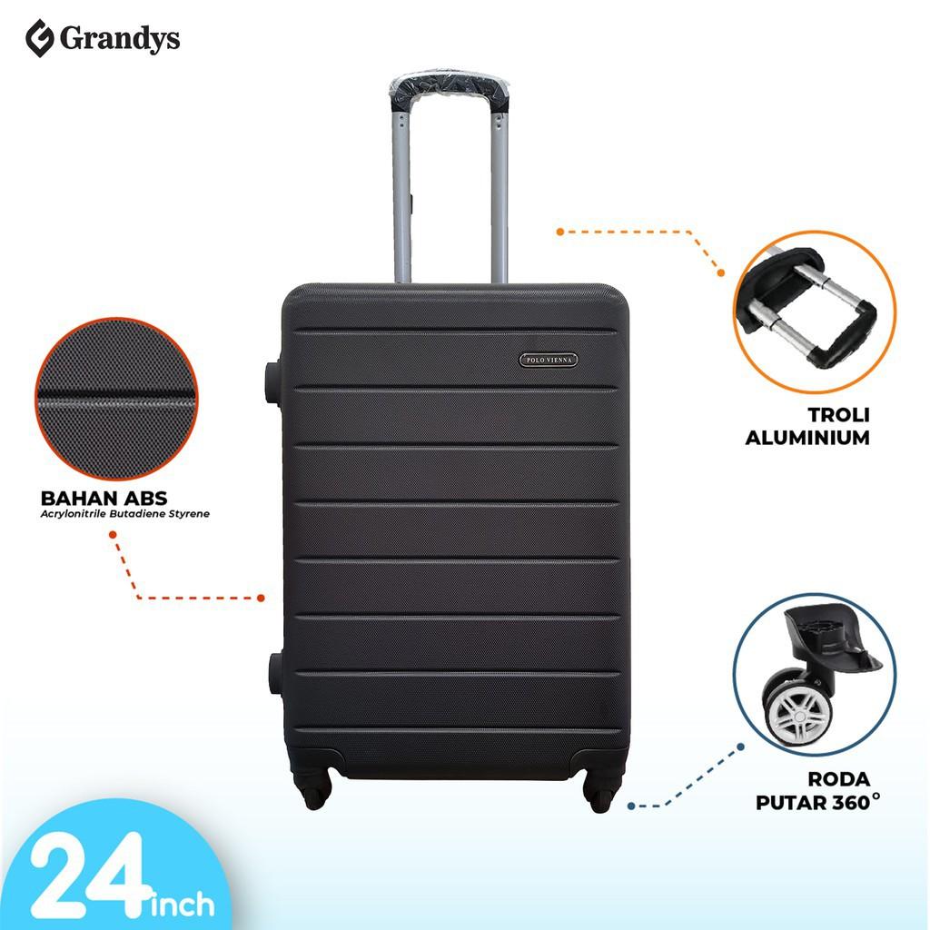 Zcf กระเป๋าเดินทาง Abs แบบแข็งขนาด 24 นิ้ว 4 ล้อ 4 ล้อ
