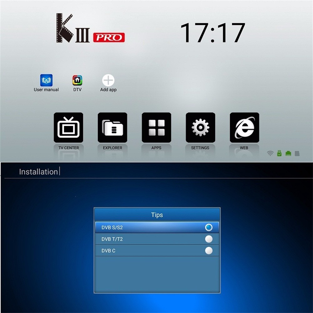 MECOOL KIII PRO Android 7 1 Smart TV Box 4K HD 3GB 16GB Amlogic S912 TV Box  DVB-S2 DVB-T2