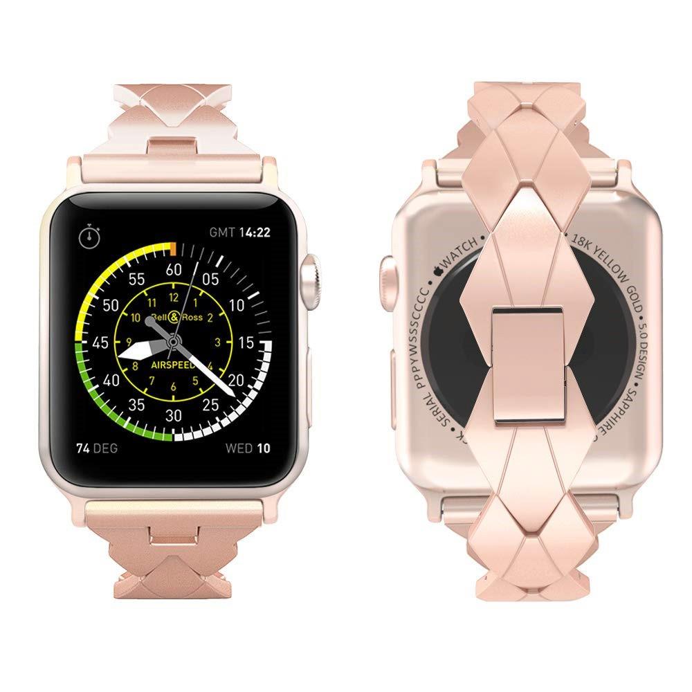 สายนาฬิกา Apple Watch Straps เหล็กกล้าไร้สนิม สาย Applewatch Series 6 5 4 3 2 1 Stainless Steel สายนาฬิกาข้อมือ for appl