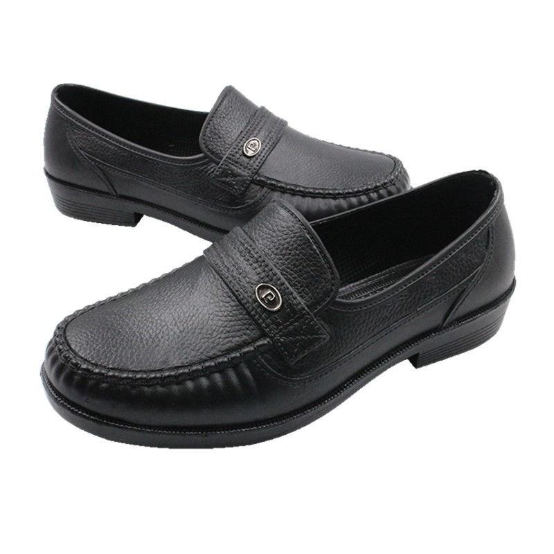 รองเท้าคัชชูยางผู้ชาย สีดำ นิ่มใส่สบาย