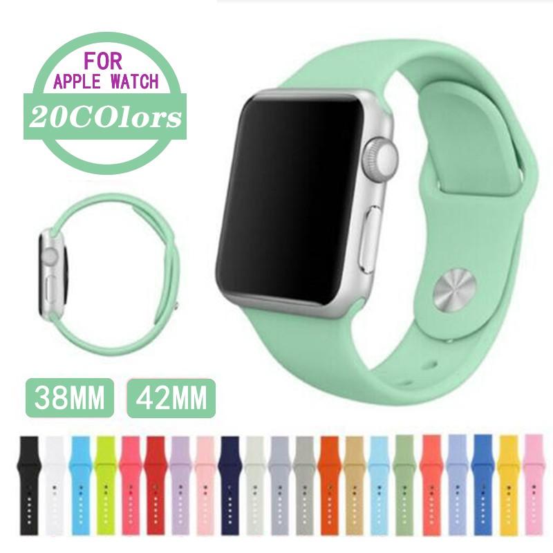 สายซิลิโคนสำรองเปลี่ยน Apple Watch Series 1/2/3/4/5 สาย Apple watch iWatch สาย 38mm 40mm 42mm 44mm