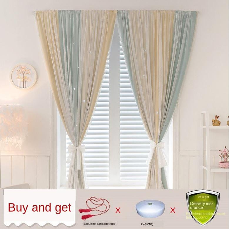 💮ม่าน💮ผ้าม่าน ผ้าม่านเวลโคร Curtain ผ้าม่านสำเร็จรูป ติดตั้งง่ายหมัดฟรีสองชั้น ผ้าม่าน กันแดดดี ผ้าปูยางอย่างดี