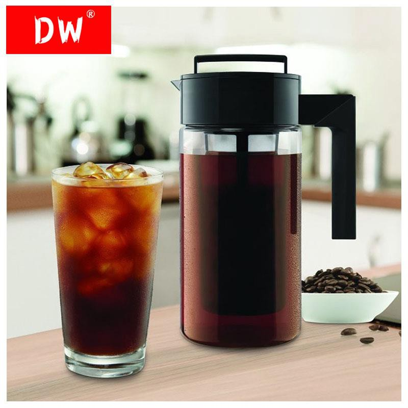 [hot] ♂เครื่องทำกาแฟสกัดเย็น มือจับซิลิโคน ความจุ 900 มล.◈