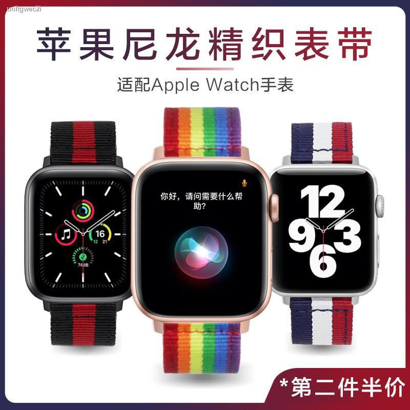 【hot】▣▧☽Apple iwatch Canvas Nylon Watch Strap Woven Tide Brand Applewatch SE / 6/5/4/3/2 Generation Series 38 42mm40