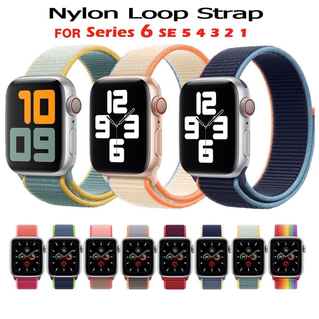 ✳สายนาฬิกาไนล่อน apple watch 44มม 40มม 38มม 42มม iwatch series 6 SE 5 4 3 2 1 สาย applewatch สายนาฬิกาข้อมือ✳