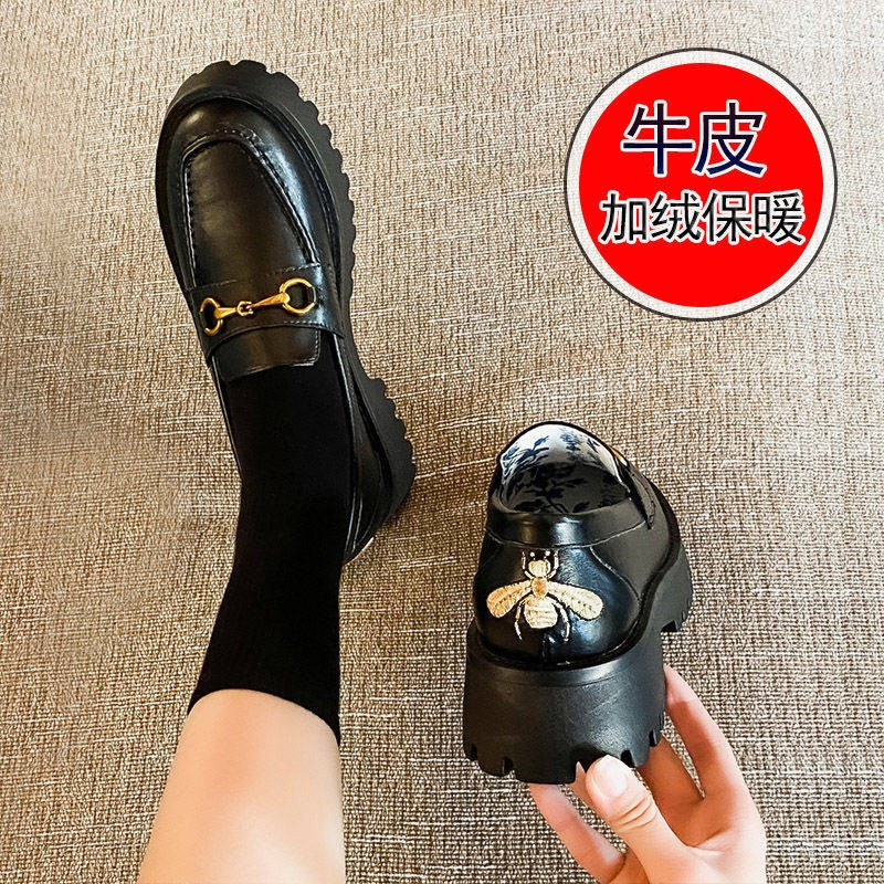รองเท้าผู้หญิง รองเท้าคัชชู ร้องเท้า ❀รองเท้าเด็ก 2021 ฤดูหนาวใหม่ JK รองเท้าหนังขนาดเล็กอังกฤษรองเท้านักเรียนหญิงเกาหลี