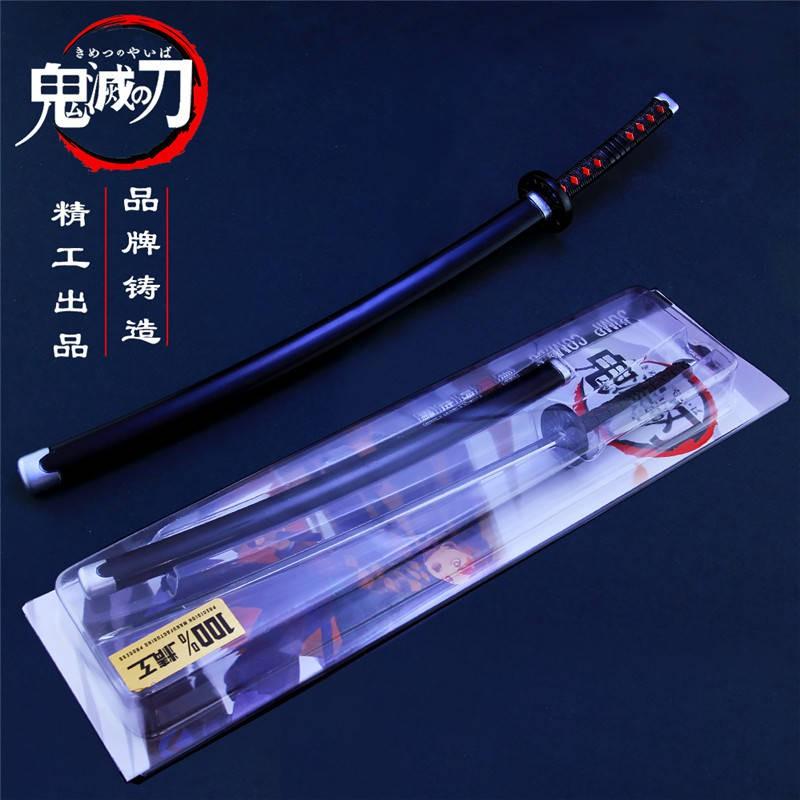 ของเล่น Demon Slayer Blade รูป Tanjiro Hi-wheel Knife Toy Metal Weapon Model Demon Slayer Tanjiro Figure