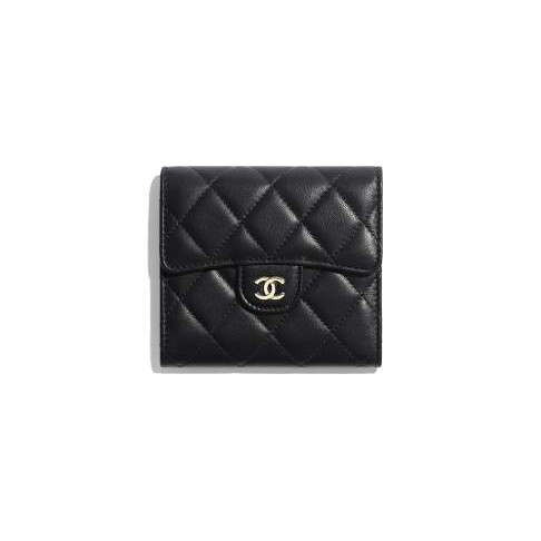 Chanel / New / Classic Small Flap Wallet / Sheep Leather and Gold Metal / ของแท้ 100% (ครบชุด)