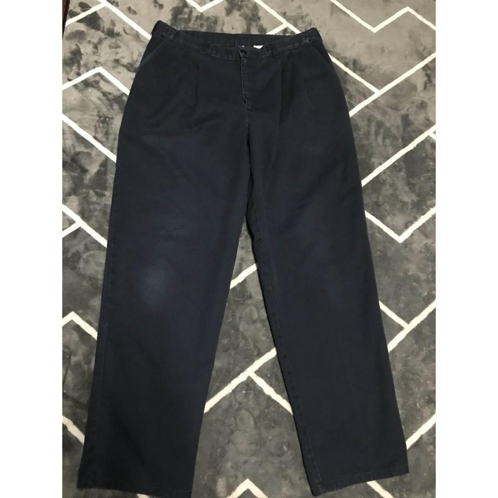 :) [D02] กางเกงขายาว DICKIES สีกรมเข้ม 5 กระเป๋า