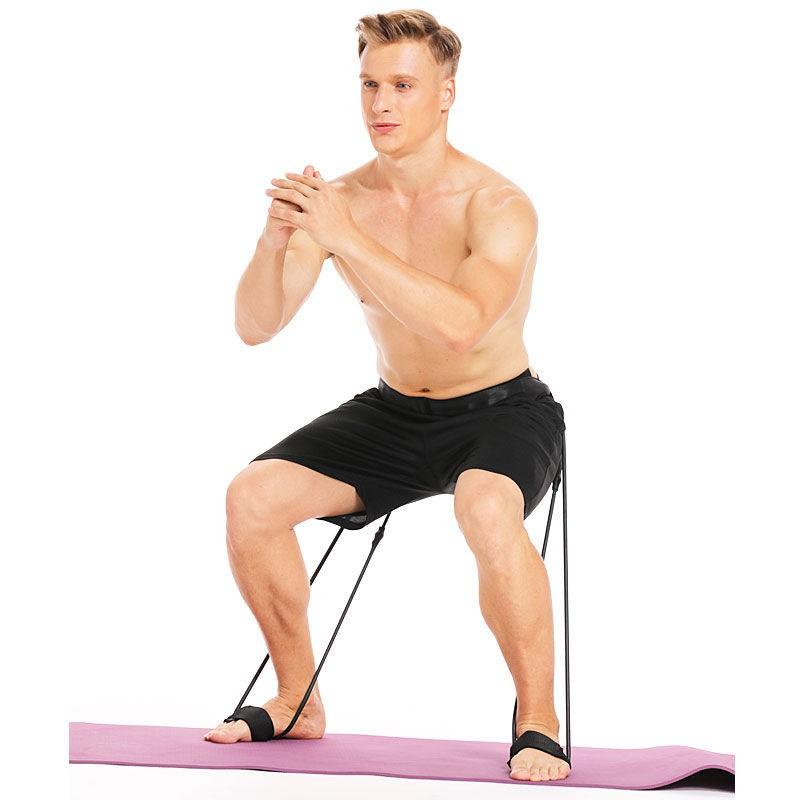 ยางยืดออกกำลังกายเข็มขัดช่วยออกกำลังกาย♝☈♟Basketball อุปกรณ์ฝึกตีกลับและสัมผัสส่วนสูงแบบมืออาชีพ Squat สะโพกแข็งแรง ขากร