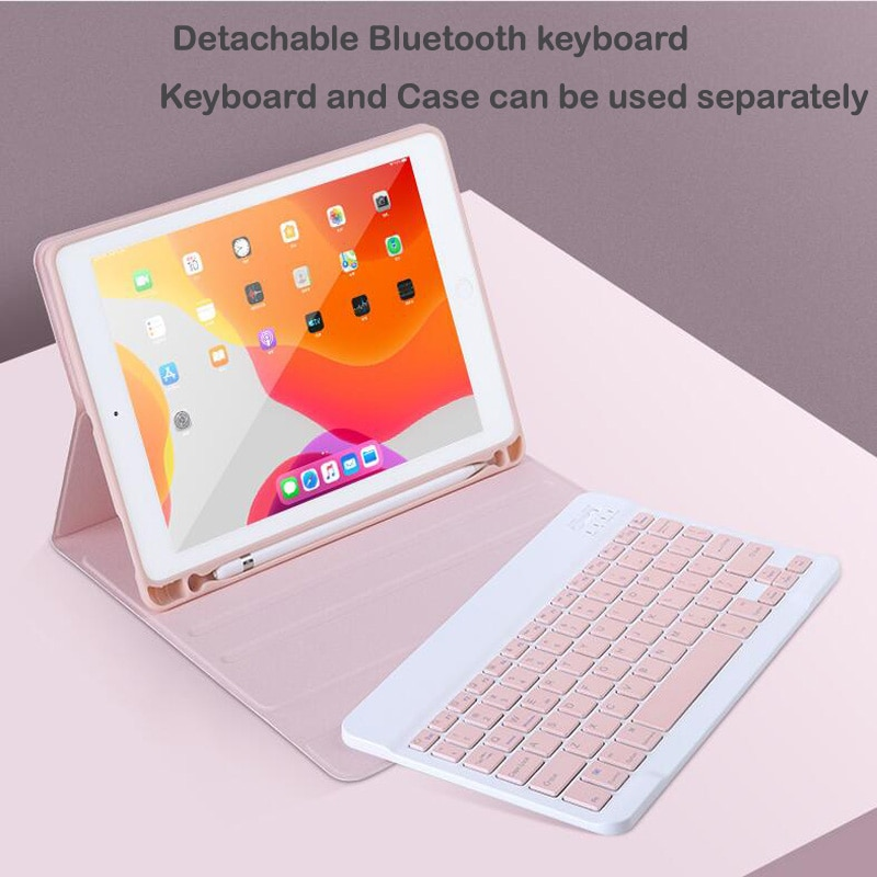 Case for IPad 9.7 2017 2018 5th 6th Keyboard Case with Pencil Holder for Apple IPad Air 1 2 Pro 9.7 Bluetooth Keyboard C