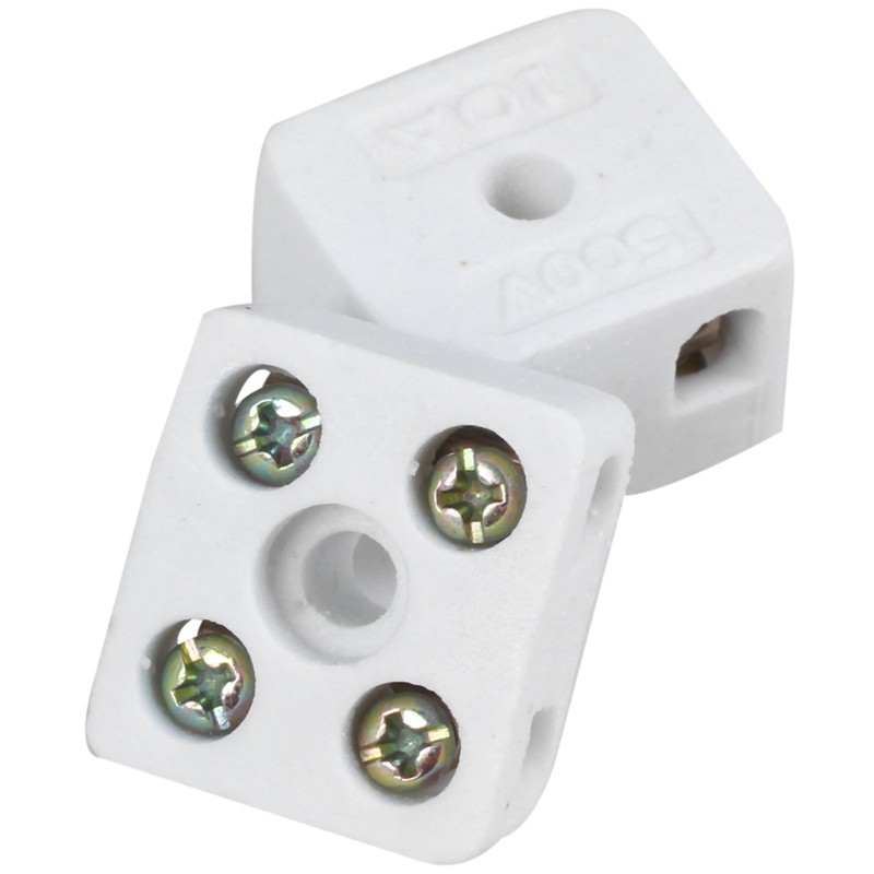NEW Porcelain Connector 15A 2 Way Each