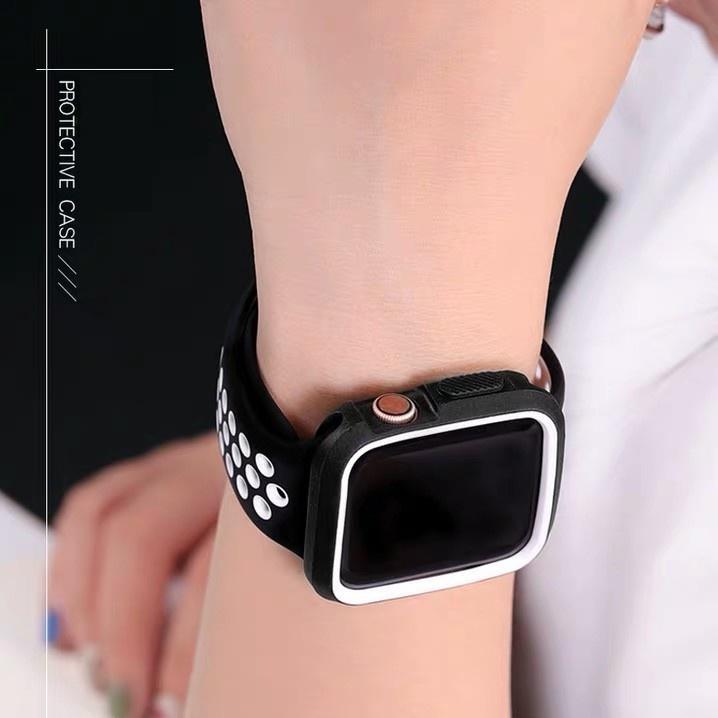 ✠✾พร้อมส่ง เคสสำหรับ Apple Watch SE ขนาด 38/40/42/44 มม. TPUหุ้มซิลิโคนสีสันอ่อนสำหรับ iWatch Series6/5/4/3/2/1