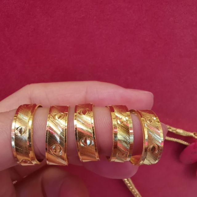 ##ซื้อเฮงใส่ดี แหวนทอง 96.5%  น้ำหนัก 1 สลึง ไซ้ร 47-54 ราคา 8,000บาท