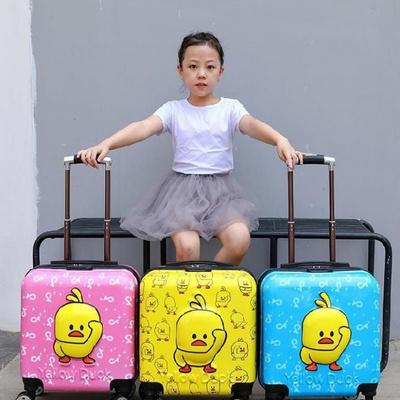 ﹍Ι กระเป๋าเดินทางล้อลากใบเล็ กระเป๋าเดินทางล้อลากผู้หญิงดึงกล่องกระเป๋านักเรียนกระเป๋าเด็ก16นิ้ว14นิ้วล้อสากลเด็กรถเข็นก
