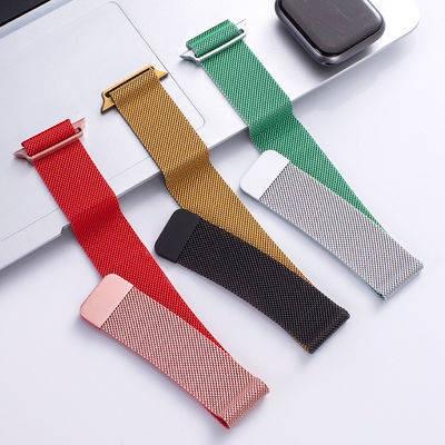 สาย applewatch สายนาฬิกา applewatch สายนาฬิกาอัจฉริยะ สายนาฬิกา Apple strap apple Watch Milanis stainless steel magnet 1