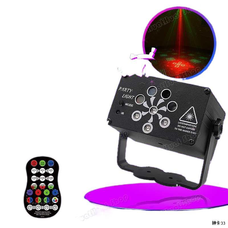 ไฟเลเซอร์ในผับ ไฟเวที ไฟส่ายหัว ไฟเวทีส่ายหัว ไฟลำแสง 6/8 ดวง 60/120/240 ภาพ รุ่น USB ไฟแฟลช KTV แฟลช LED Light Bar ไฟห1