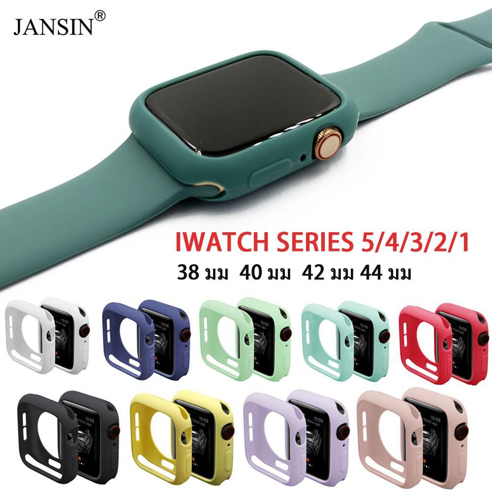 ⭐Ready Stock⭐□✉✱เคสซิลิโคน สีพาสเทล สำหรับ Apple Watch 38 มม 40 42 44 series 6 se 5 4 3 2 1 สายเคส applewatch