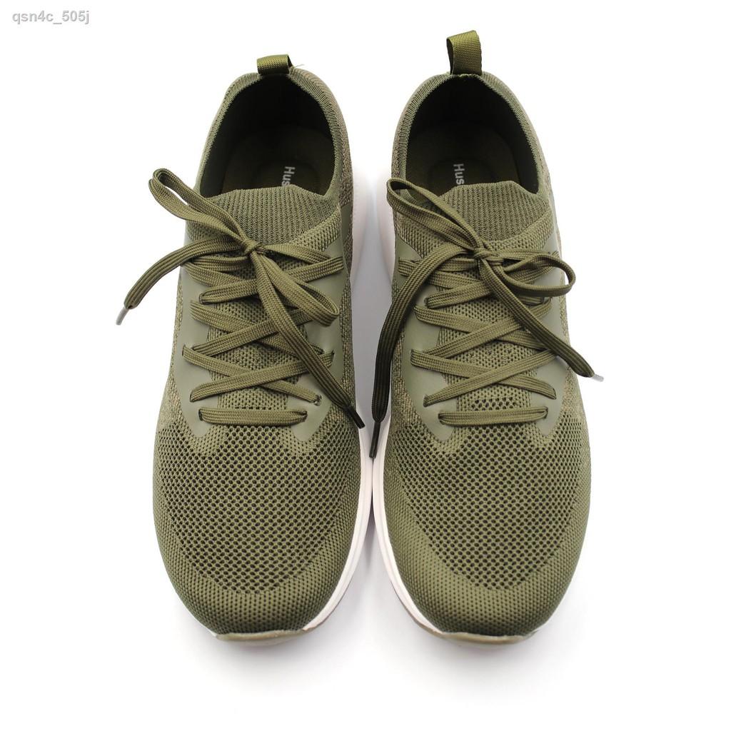 🔥รองเท้าผู้ชาย🔥☋⊕□HUSH PUPPIES รองเท้าคัชชูผู้ชาย รุ่น HP THCFB2669E สีเขียวมะกอก