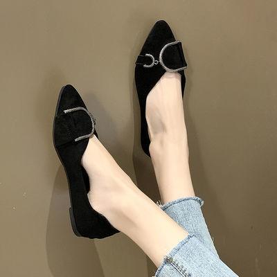 ❤️รองเท้าคัชชูผู้หญิงพื้นยางนิ่ม รองเท้าคัชชูหัวแหลมสำหรับผู้หญิงรองเท้าลำลองส้นแบนรุ่นใหม่