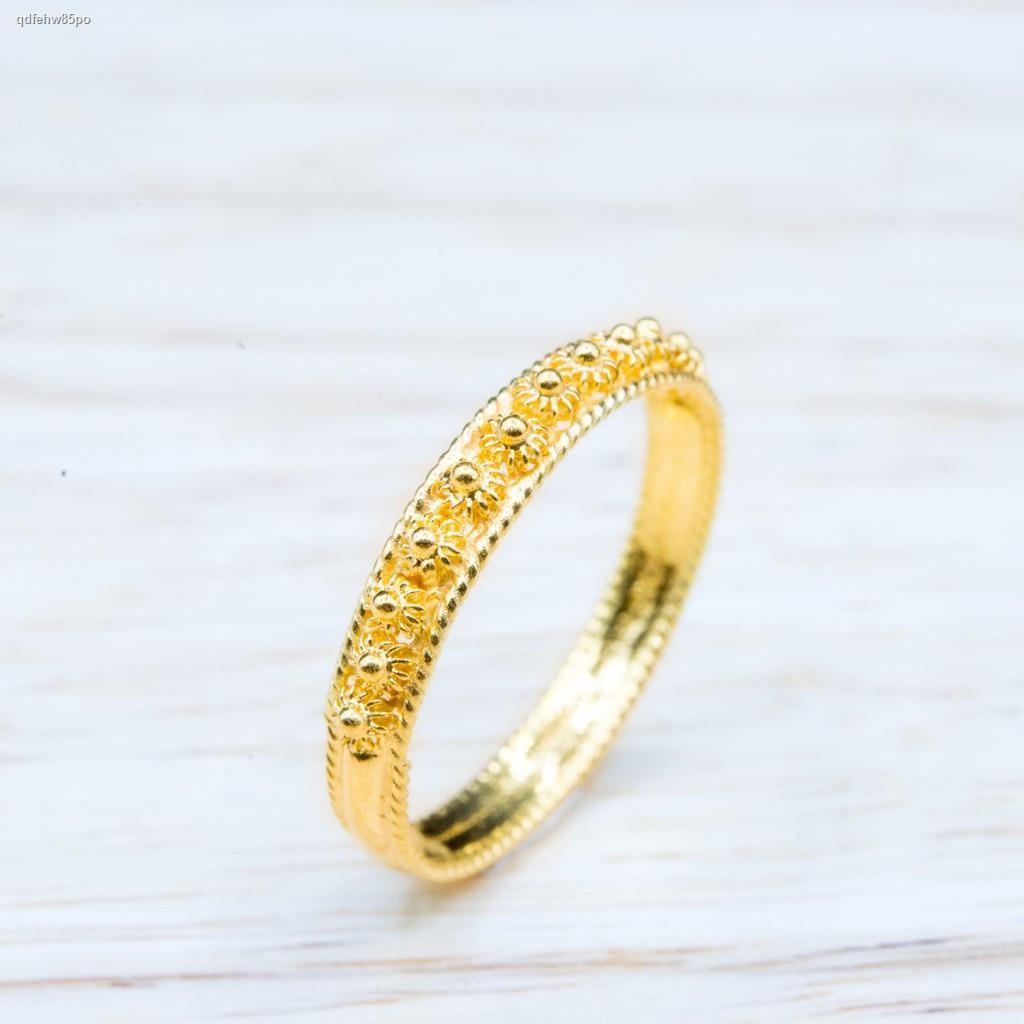 ราคาต่ำสุด❁¤⭐️ แหวนทองลายพิกุล น้ำหนักครึ่งสลึง