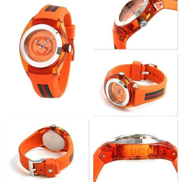 GUCCI Unisex Sync Rubber Strap Sport Watch มี 2 สี