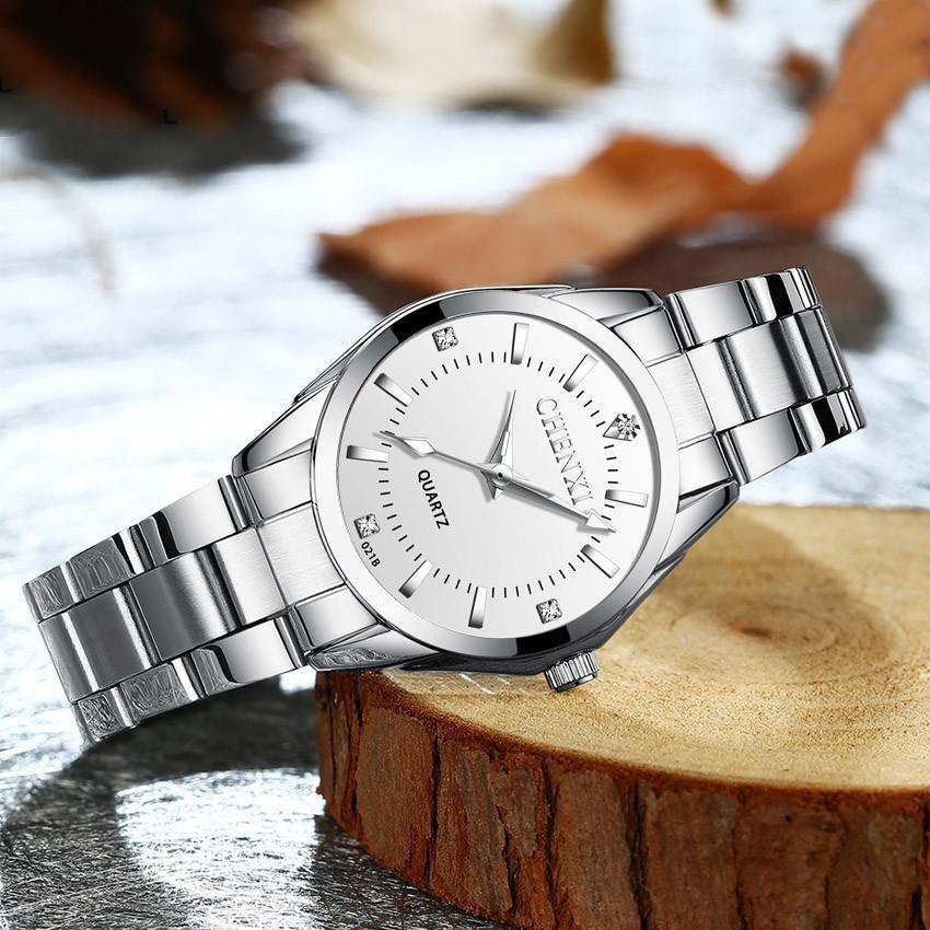 Cadier 873 นาฬิกาผู้หญิง นาฬิกาควอตซ์แฟชั่น สายสแตนเลส การเคลื่อนไหวของ Casio ญี่ปุ่น กันน้ำ สีสวยงาม