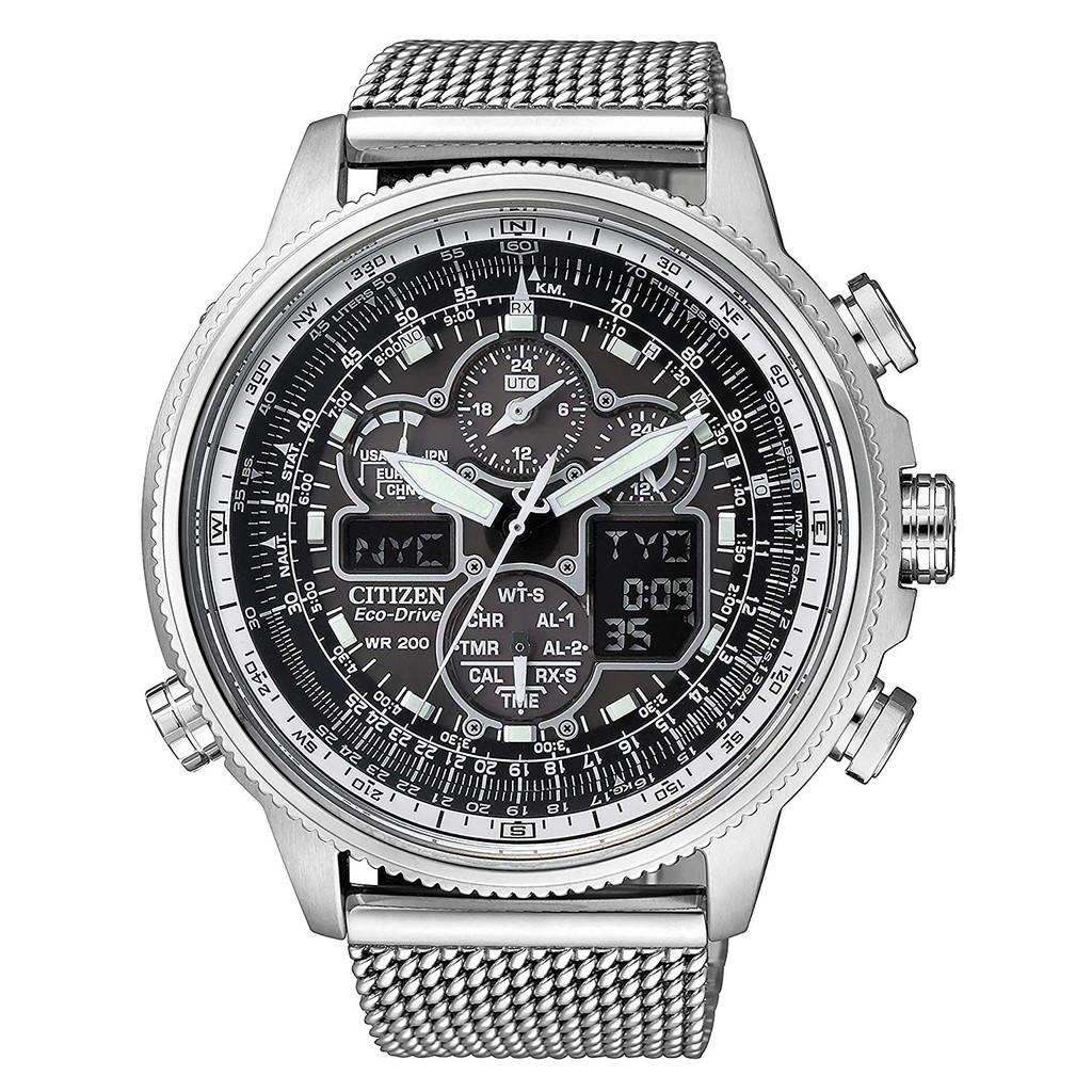 นำเข้าจากญี่ปุ่นCITIZEN Promaster Eco-drive radio clock chronograph Specific store handling model JY8037-50E Silver