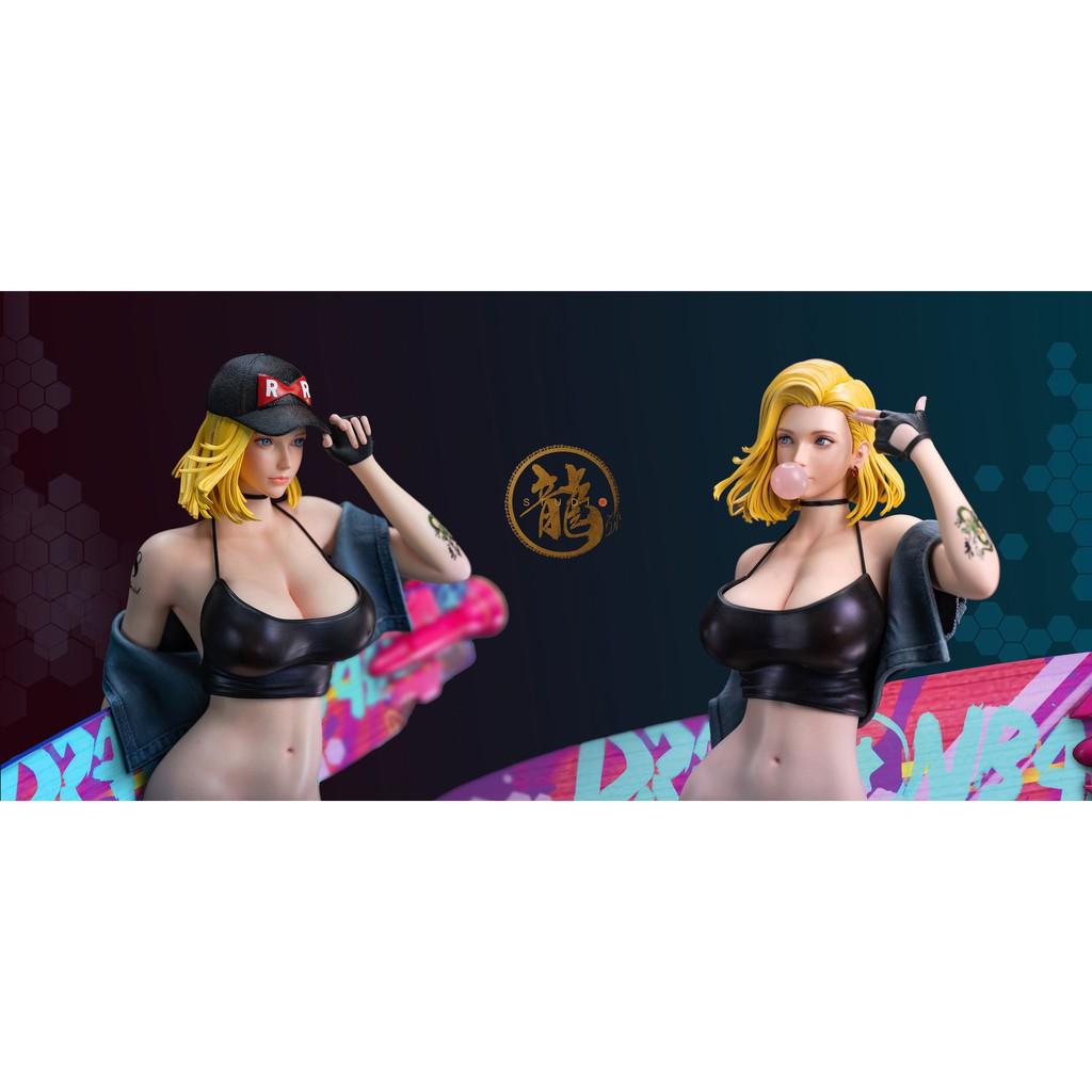 ☸Dragon Sand Sculpture Girl Cyborg No. 18, No. 18 GK Figure pre-