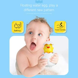 HN-Baby Shower Toys Kids Swimming Funny Bathing Toy Baby Cute Cartoon Duck Penguin Egg Water Spray Sprinkler