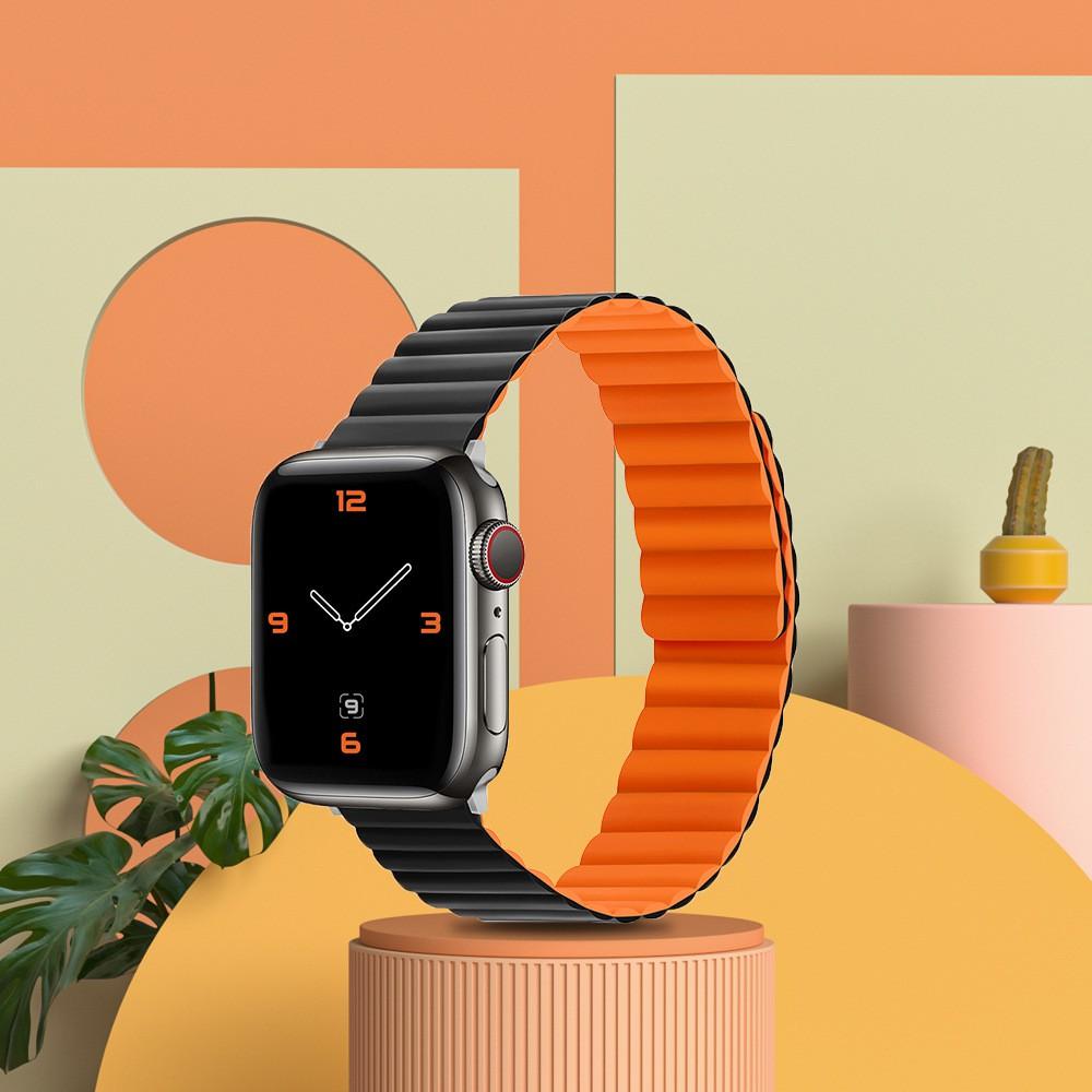 เคสนาฬิกา applewatchใช้ได้กับ Apple สายซิลิโคนiwatchสายapple watchสายคล้องแอปเปิ้ลสายดูดแม่เหล็กใหม่applewatch