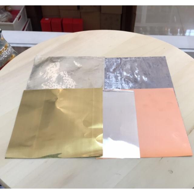 แผ่นทองหล่อพระ (ทองเหลือง , ทองแดง, เงิน) 5*5 ราคาต่อแผ่น