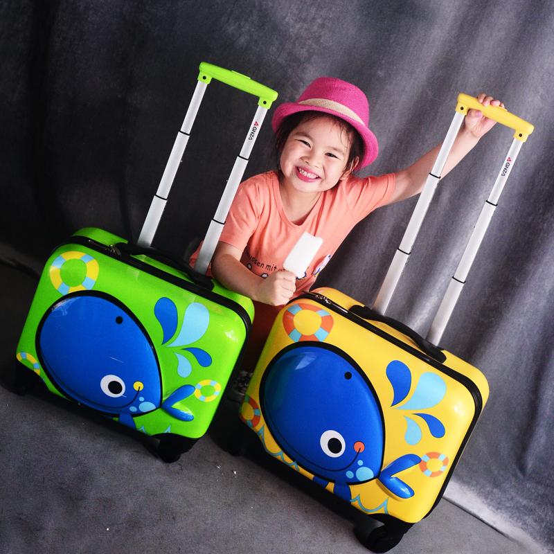 ✿♒ กระเป๋าเดินทางล้อลากใบเล็ก กระเป๋าเดินทางล้อลากGinzaเด็กรถเข็นกระเป๋าเด็กประถมน่ารักกระเป๋าเดินทางหญิงสุทธิสีแดงการ์ต