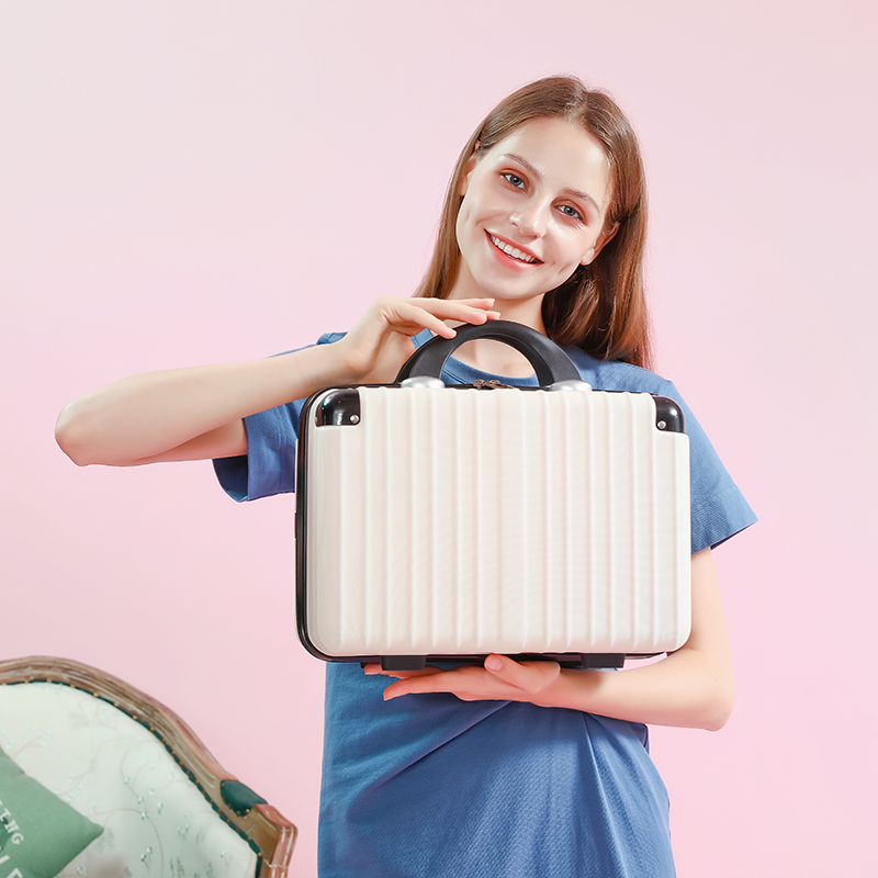 ★♥ขนาดเล็กน้ำหนักเบากระเป๋าเดินทาง12/14/16นิ้วญี่ปุ่นน่ารักสาวกระเป๋าเดินทางมินิเดินทางถุงเก็บแต่งหน้า