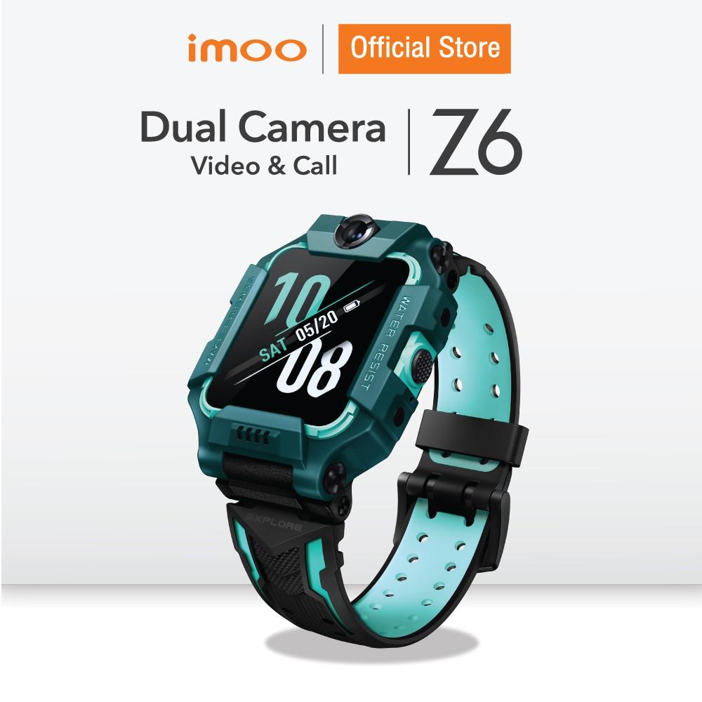 【 จัดส่งที่รวดเร็ว】imoo Watch Phone Z6 นาฬิกาไอโม่ ระบุตำแหน่ง วิดีโอคอล กล้องหน้า-หลัง  4G ติดตามตัวเด็ก ประกัน 1 ปี Jg