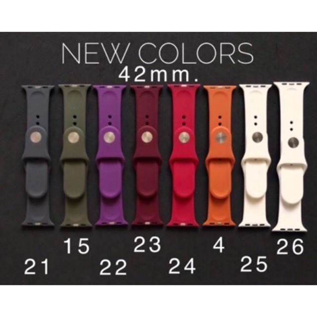 สาย applewatch สาย applewatch แท้ 🔥พร้อมส่ง🔥สาย Apple Watch ขนาด42 หลายสี เลือกสีเมนูด้านล่างได้เลยคะใช้ได้ทั้ง3ซีรีย์