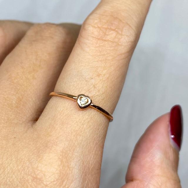 แหวนเพชรแท้ ทอง9k พร้อมส่ง 🔥🔥🔥ราคาถูก🔥🔥🔥