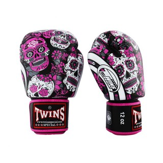 TWINS SPECIAL BOXING GLOVES HALLOWEEN รุ่น PINK BLACK FBGVL3-53